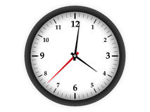 Clock on white background Royalty Free Stock Photo