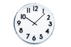 Clock. On white background  isolated Royalty Free Stock Images