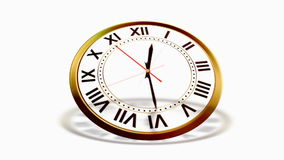 Clock on white stock video footage