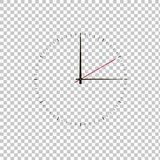 Clock on white transparent background. Clock icon Royalty Free Stock Photo