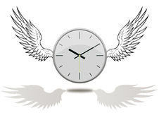Clock with wings Stock Photos