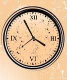 Clock With Grunge Background Stock Photo