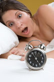 Clock Woman Royalty Free Stock Photo