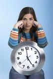 Clock Woman Stock Images