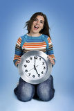 Clock Woman Royalty Free Stock Photography