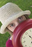 Clock Woman Stock Photo