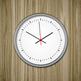 Clock on wood Royalty Free Stock Images