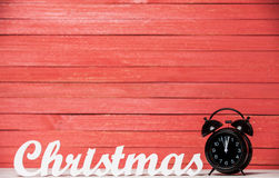 Clock and word Christmas. Stock Image