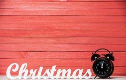 Clock and word Christmas. Stock Image