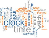 Clock word cloud Royalty Free Stock Image