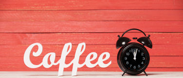Clock and word Coffee. Stock Image