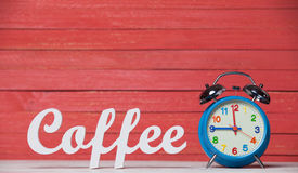 Clock and word Coffee. Stock Images
