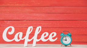 Clock and word Coffee. Royalty Free Stock Photos