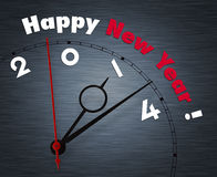 Clock with  2014. Clock with words Happy New year 2014 Royalty Free Stock Photography