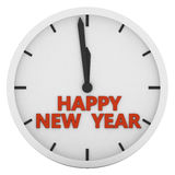 Clock. With the words Happy New Year stock illustration