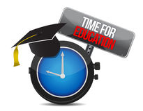 Clock with words time for education Stock Image