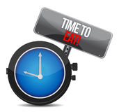 Clock with words Time to Eat Stock Image