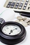 Clock and work Royalty Free Stock Photos