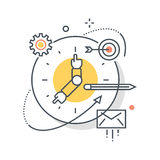 Clock, work hours concept illustration Royalty Free Stock Photography