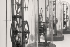 Clock Workings in B&W Royalty Free Stock Images