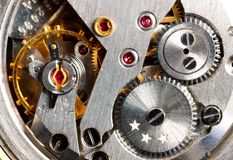 Clock works Stock Image