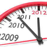 The clock of the years. Clock with Countdown to New Year 2012 royalty free illustration