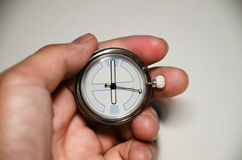 Clock in your hand Royalty Free Stock Photography