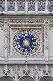 Clock with zodiac sign, Paris, France Royalty Free Stock Photos