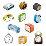 Clockface вектора будильника современное хронометрировало во времени с часом или мельчайшей иллюстрацией стрелок 3d реалистическо иллюстрация штока