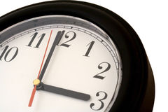 Clockface at 3 o'clock Stock Images