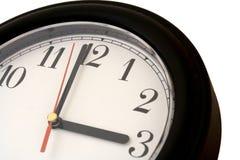 Clockface a 3 in punto Immagini Stock
