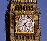 Clockface. The clockface of the clocktower,'Big Ben', at the Houses of Parliament, London UK Royalty Free Stock Photos