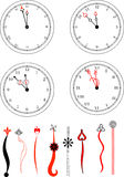 Clockface de vecteur illustration stock