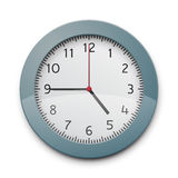 Clockface. Realistic round wall clock. EPS10 vector image Stock Photo