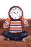 Clockhead Fotografie Stock