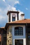 Clockhouse e piccioni Fotografie Stock