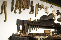 Clockmaker Tools and Workbench Stock Photos