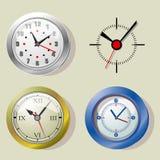 Clocks. Illustration of four different clocks Stock Image