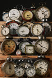 Clocks. Collection of vintage alarm clocks Royalty Free Stock Photography