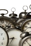 Clocks. Collection of vintage alarm clocks Stock Images