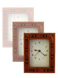 Clocks. My clocks in marquetry frame from England Stock Photos