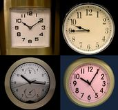 Clocks. Four different clocks royalty free stock photography