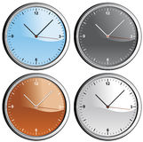 Clocks. Vector illustration Isolated clocks in diferent colors Stock Illustration