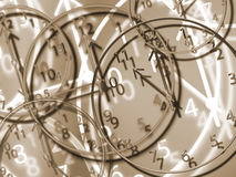 Clocks. Different size and colored clocks Stock Photography