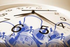 Clocks. Composite of Alarm Clocks Close Up royalty free stock images
