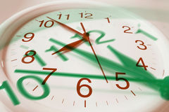 Clocks. Composite of Clocks in Warm and Green Tones stock photography