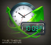 Clocks & arrows Royalty Free Stock Image