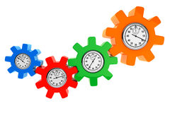 Clocks as color gear wheels Royalty Free Stock Photo