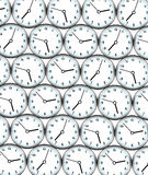 Clocks background. Background filled with ticking clocks Royalty Free Stock Image