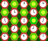 Clocks background Royalty Free Stock Photography